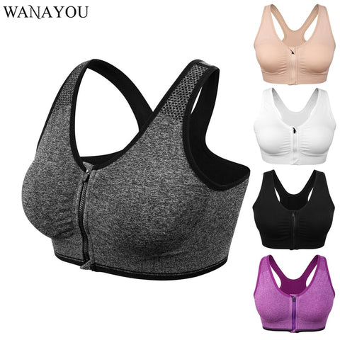 Zipper Yoga Bra Top - Shaping Moms