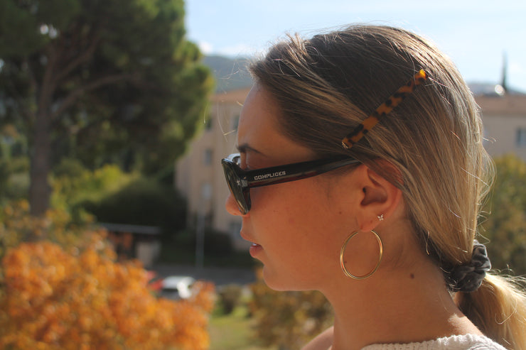 Barrettes Leopard - Marron