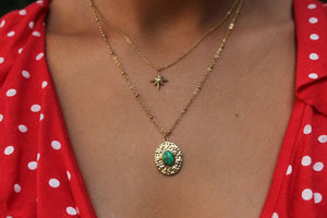 Collier Honora - Malachite