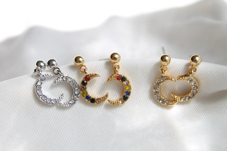 Boucles June - Or/Zircon multicolore
