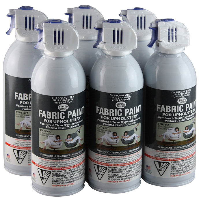 Simply Spray Upholstery Fabric Spray Paint 8 oz. 6 Pack