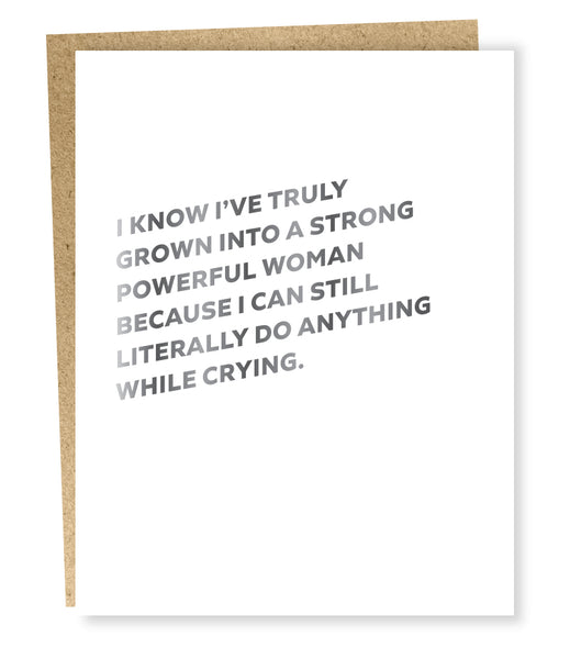 Powerful Woman Greeting Card