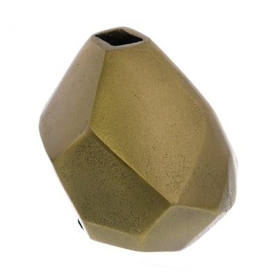 Faceted Brass Vase