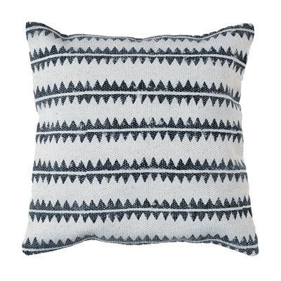 Block Print Sawtooth Stripe Pillow