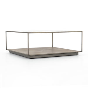Abel Sunburst Square Coffee Table