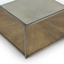 Load image into Gallery viewer, Abel Sunburst Square Coffee Table
