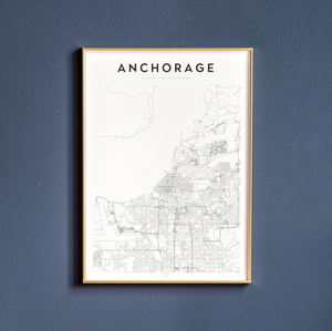 Anchorage Map Print