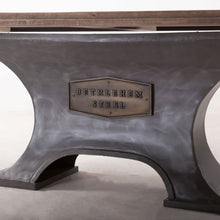 Load image into Gallery viewer, Bethlehem Steel Table Solid Wood Dining