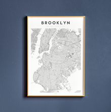 Load image into Gallery viewer, Brooklyn Map Print
