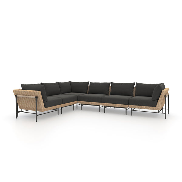 Cavan Outdoor 6-Piece Sectional