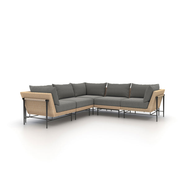 Cavan Outdoor 5-Piece Sectional