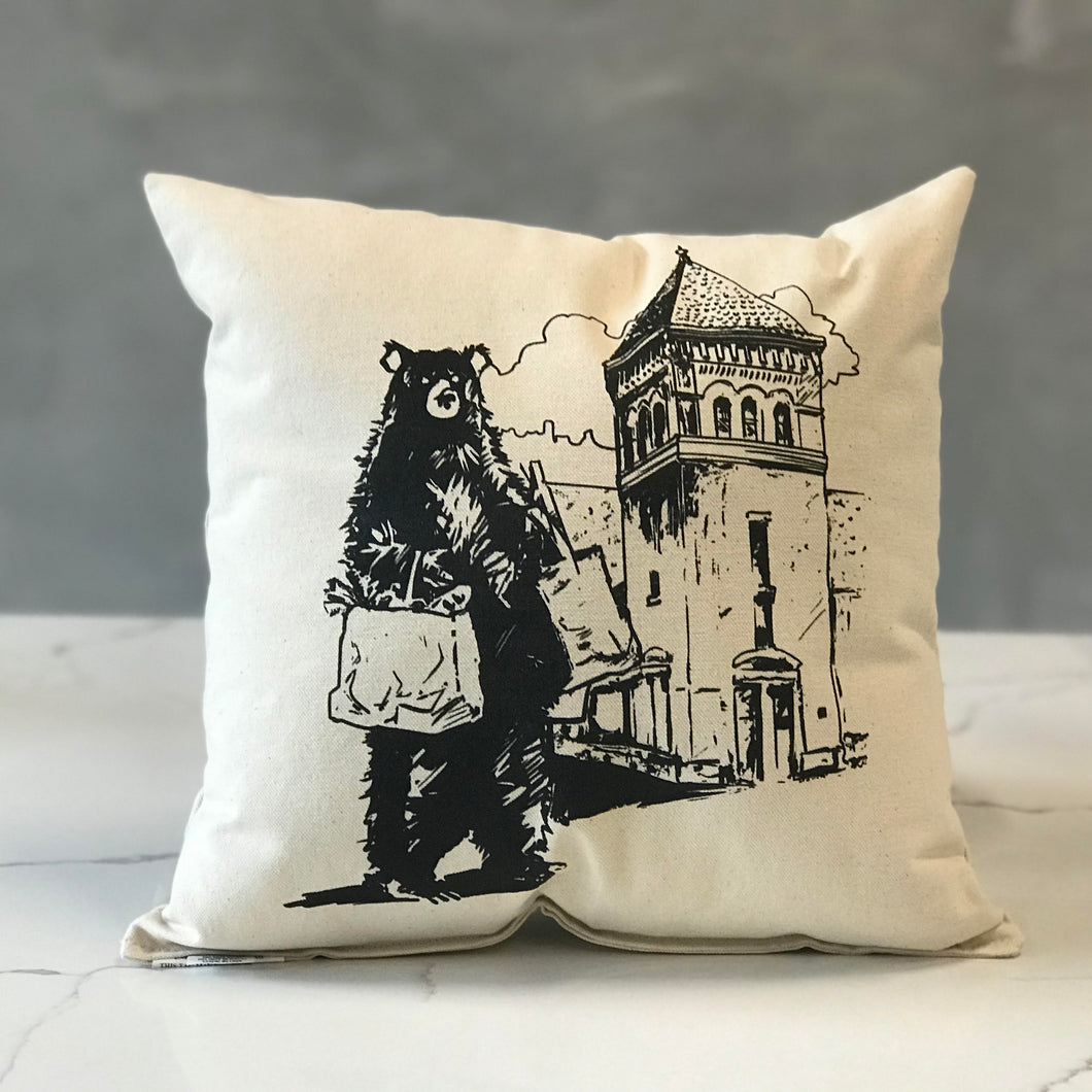 City Bear Market Pillow