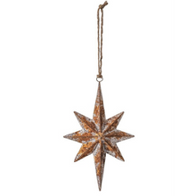 Load image into Gallery viewer, Metal Bethlehem Star Ornament