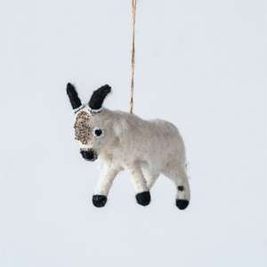 Wool Felt Mountain Goat Ornament