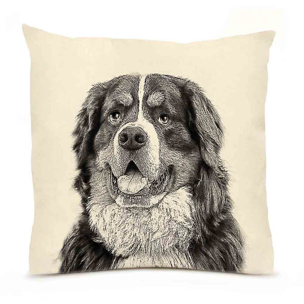 Eric & Christopher Bernese Mountain Dog Pillow