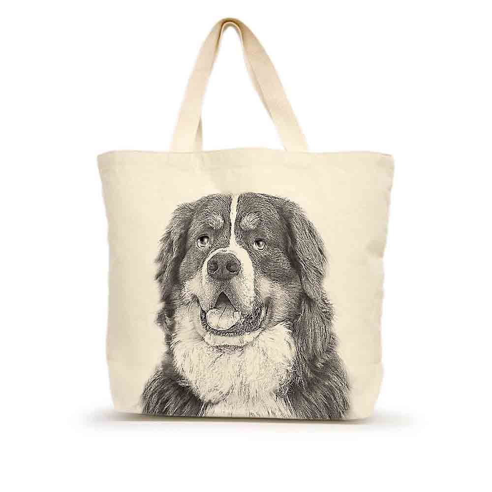 Eric & Christopher Bernese Mountain Dog Tote