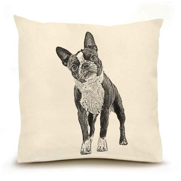 Eric & Christopher Boston Terrier Pillow