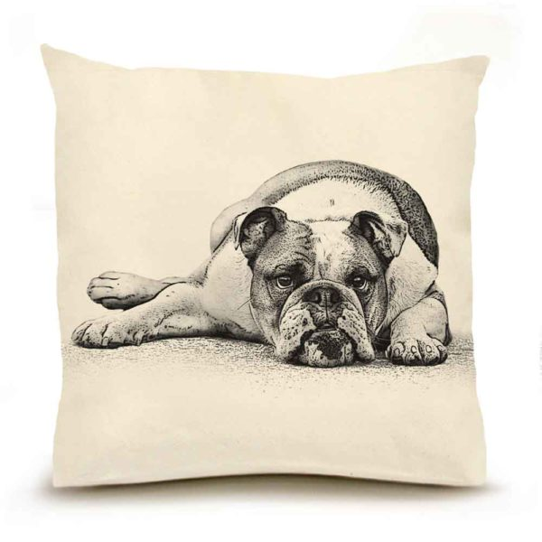 Eric & Christopher Bulldog Pillow