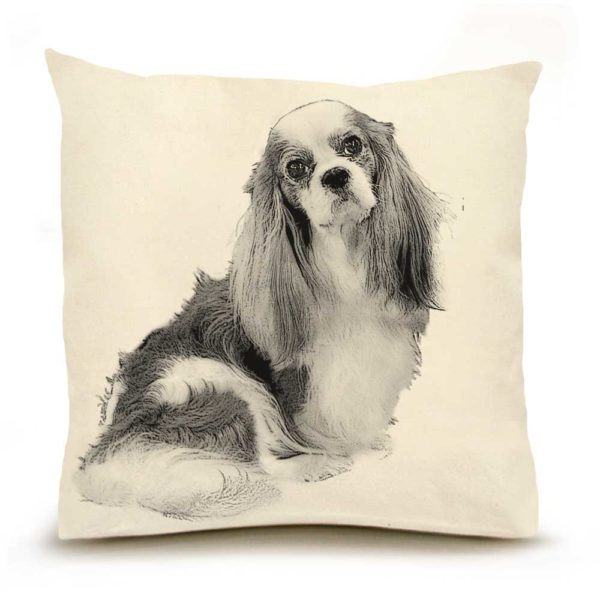 Eric & Christopher Cavalier King Charles Pillow