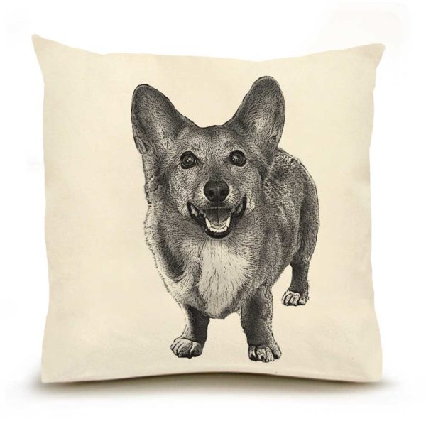 Eric & Christopher Corgi Pillow