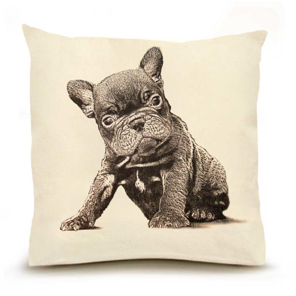 Eric & Christopher French Bulldog Pillow