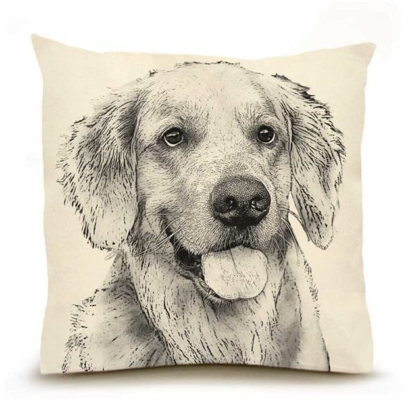 Eric & Christopher Golden Retriever #2 Pillow