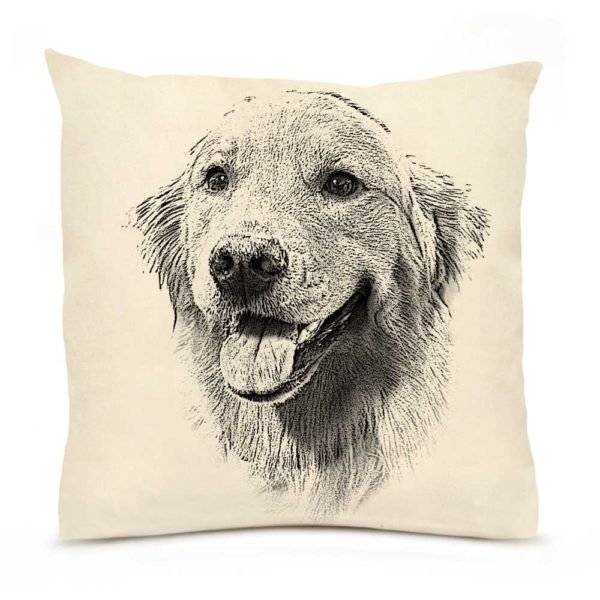 Eric & Christopher Golden Retriever #1 Pillow