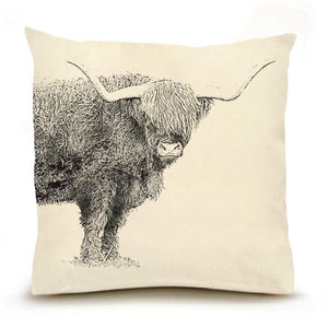 Eric & Christopher Highland Cattle Pillow