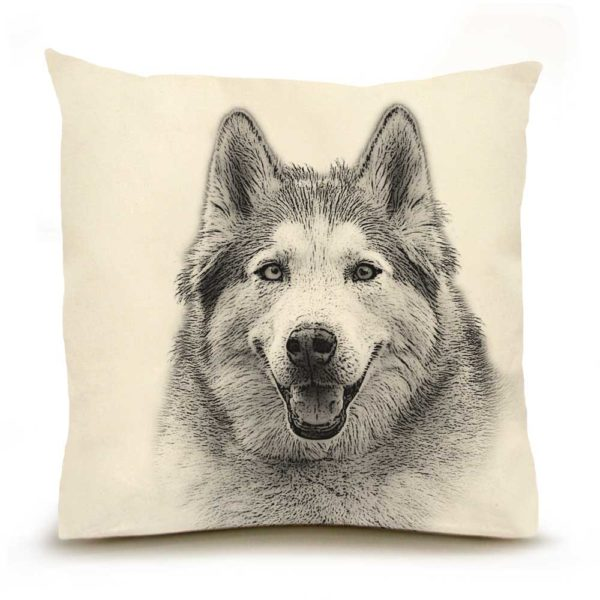 Eric & Christopher Husky Pillow