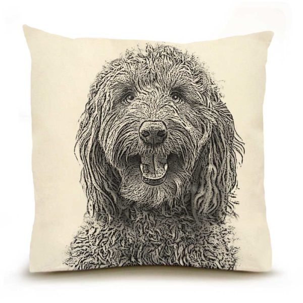 Eric & Christopher Labradoodle Pillow