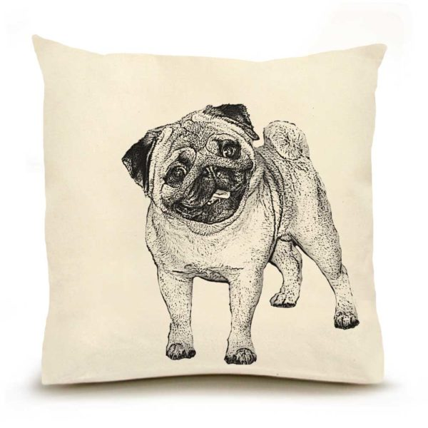 Eric & Christopher Pug Pillow