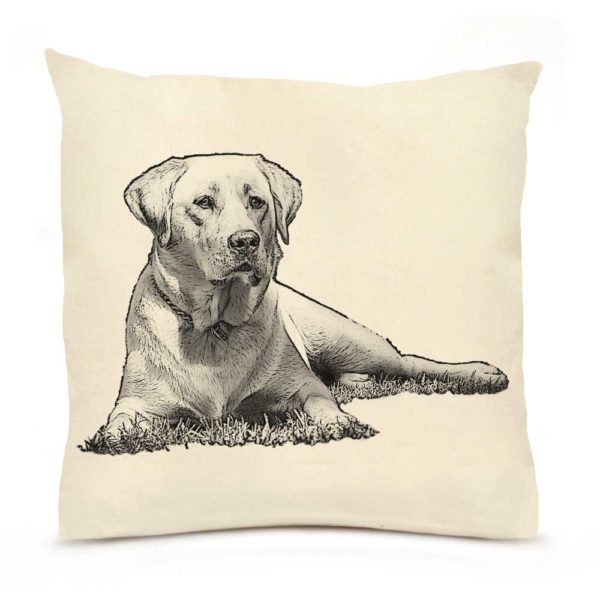 Eric & Christopher Yellow Lab #1 Pillow