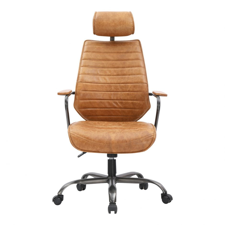 Executive Swivel Office Chair- Cognac