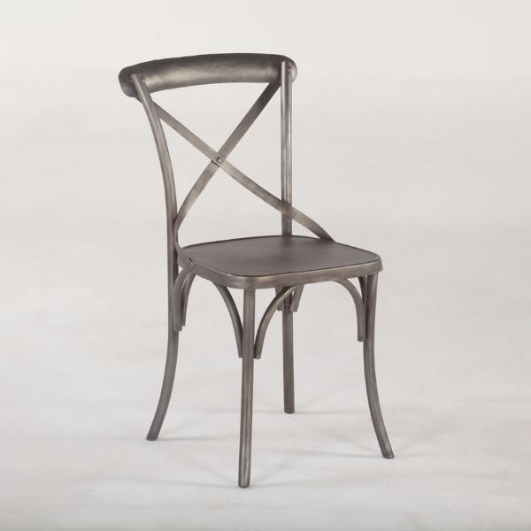 Metal Bistro Chair French Cafe Paris Gunmetal Gray Parisian