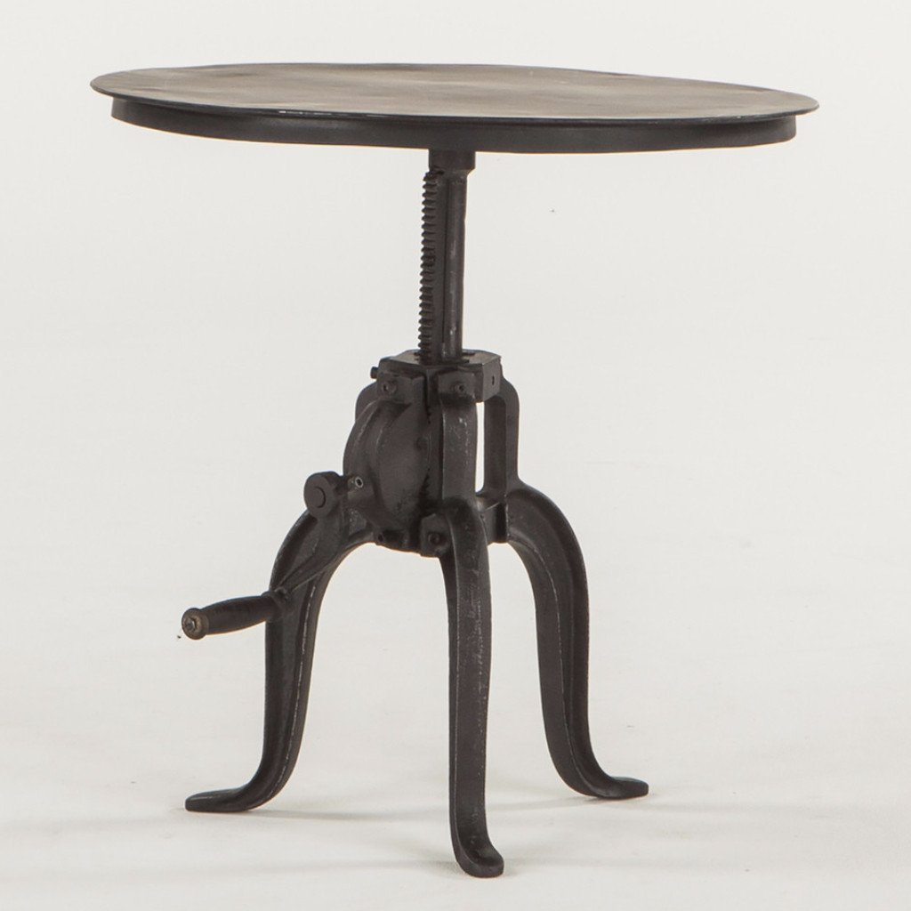 Foundry Black Iron Crank Side Table