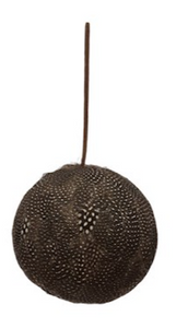 Round Feather Ball Ornament