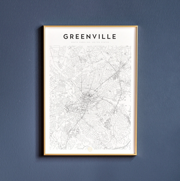 Greenville Map Print