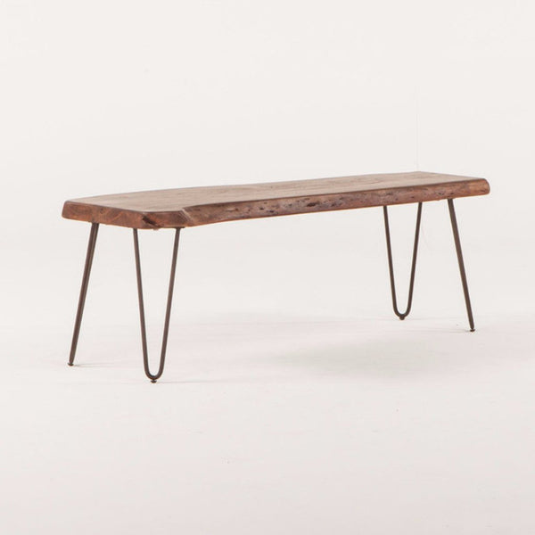 Greenwich Live-Edge Bench
