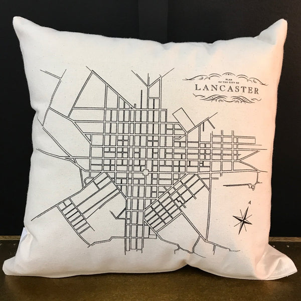 Lancaster Map Pillow
