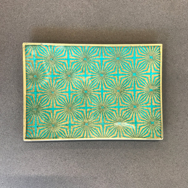 Decoupage Glass Tray