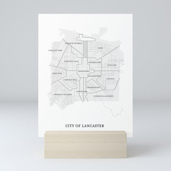 "Paper Jane Studio ""City of Lancaster Map"" Print"