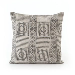 Faded Block Print Pillow