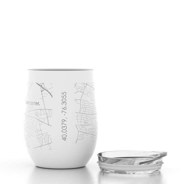 Lancaster Map Insulated Wine Tumbler