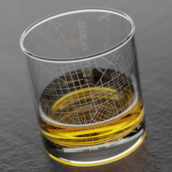 Lancaster Map Whiskey Glass