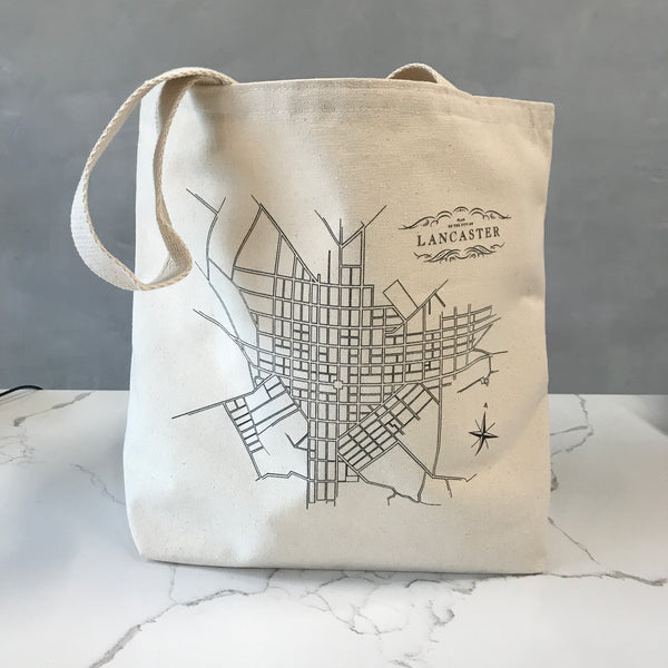 Lancaster Map Tote