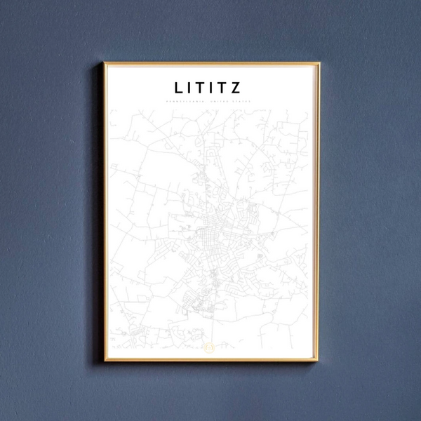 Lititz Map Print