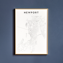 Load image into Gallery viewer, Newport Map Print