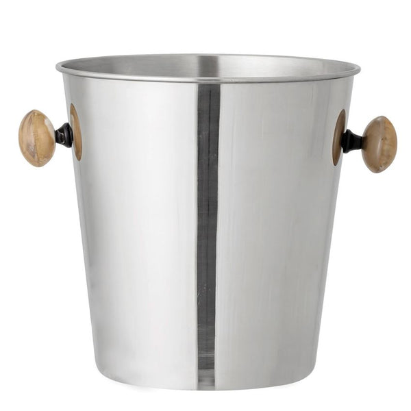 Nickel and Horn Ice Bucket