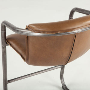 Nisky Leather Counter Chair