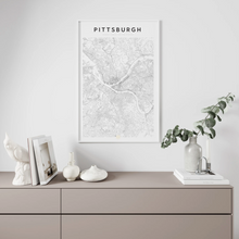 Load image into Gallery viewer, Pittsburgh Map Print